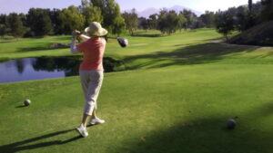 karen at golf course
