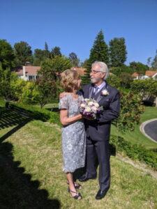 karen and michael during wedding